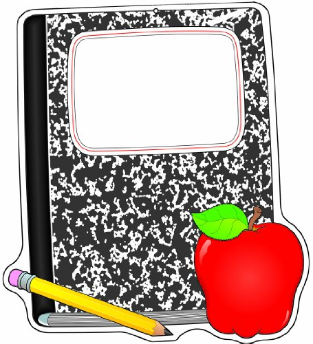 Carson Dellosa Composition Book and Apple Two-Sided Decoration (188002)