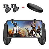 PUBG Mobile Controller, Fortnite Mobile Game Controller, AksBlay Sensitive Mobile Game Trigger L1R1, Ergonomic Design Gamepad Fits for Pubg/Fortnite/Rules of Survival for iOS Android 4.5-6.4inch (Color: black)