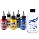 Graftobian F/X Aire Airbrush Body Paint - Primary Colors Set (5 Colors with Cleanser) (Color: with Cleanser)
