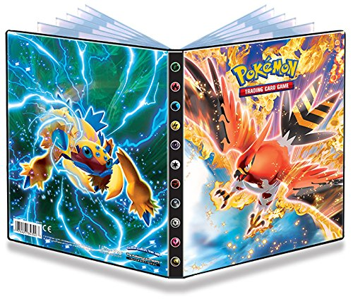 Ultra-Pro 4-Pocket Pokemon Card Binder featuring Talonflame and Galvantula (Album Holds 48-80 Cards) (Pokemon Omega Ruby Card Binder compare prices)