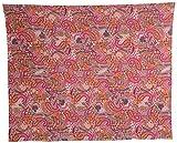 Vintage Art India Cotton Bedspread - Paisley, King Size, Multi-Colour