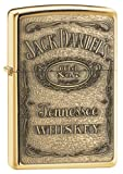 Original Zippo Lighter 254BJD428 Brass Jack Daniels's Emblem High Polish,