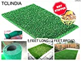 Artificial Grass Outdoor Carpet Door Mat Green Doormat Area Rug 5 / 2 FT DIRT FREEHOME OFFICE HOSPITAL SHOWROOM EXHIBITION DECK