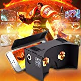Bfun 3D Virtual Reality Google Cardboard 3D Glasses DIY Kit Compatible with Android iPhone 3.5-6inch Black