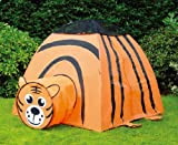 Puregadgets� Roaring Tiger Pop Up Tunnel and Tent Play System for Children / Kids / Boys / Girls - Easy to link, Easy to store, Hours of fun Indoor or Outdoor Garden Use