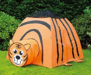 Puregadgets© Roaring Tiger Pop Up Tunnel and Tent Play System for Children / Kids / Boys / Girls - Easy to link, Easy to store, Hours of fun Indoor or Outdoor Garden Use