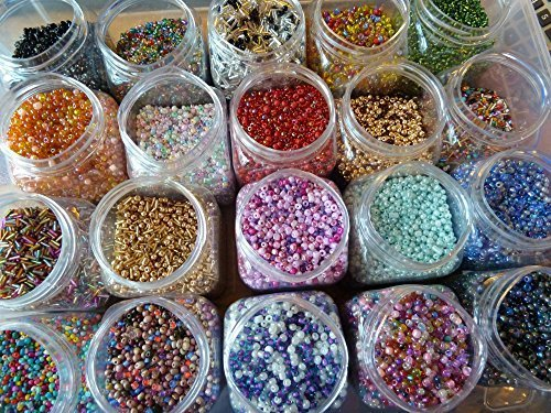 20-bags-of-10g-mixed-seed-and-bugle-beads-selection-of-colour-and-sizes