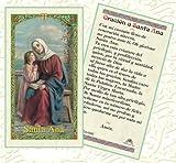 Santa Ana Madre De La Virgen Maria Y Patrona De Madres Y Abuelas Tarjeta De Rezo Laminada Bendita Por Su Santidad Francisco