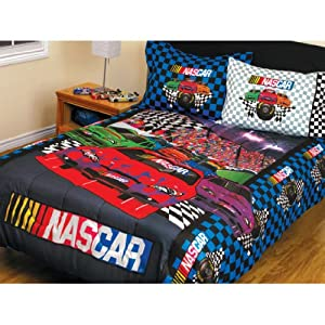 Nascar Finish Line 3-piece Twin and Full Bedding Set.