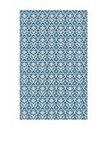 Huella deco Alfombra Bañada en Vinilo (Azul)