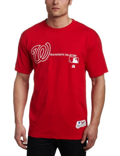 MLB Washington Nationals Authentic Collection Change Up Basic T-Shirt Red, X-Large at Amazon.com