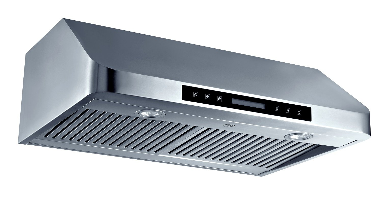 "CYBER® Minimalist Designed Seamless Stainless Steel Under Cabinet Range Hood 30"" Touch Panel 1200CFM"