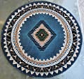 Native American Area Rug Design Kingdom D 143 Blue