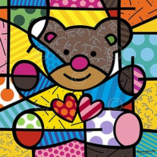 Friendship Bear Poster Print by Romero Britto (11 x 14 inches)