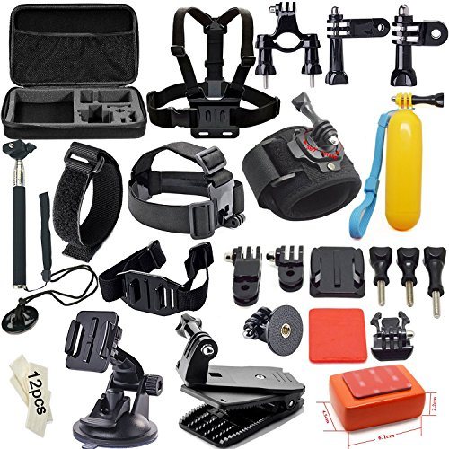 Soft-Digits-42-in-1-Action-Camera-Accessories-for-Gopro-Hero-4-Silver-Hero-4-321-Outdoor-Sports-Accessory-kit-for-Sj4000-Sj5000-Sj6000Camcorder-Bundles-for-Xiaomi-Yi