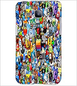 PrintDhaba Graffiti D-5512 Back Case Cover for SAMSUNG GALAXY J1 (Multi-Coloured)