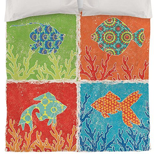 Coral Duvet Cover Queen front-1032587