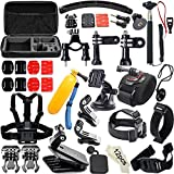 50-In-1 Accessories Kit for GoPro Hero4/3/2/1; Accessory Bundles Set for SJCAM SJ4000 5000 6000 7000 Xiaomi Yi