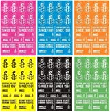 Amnesty International 6 Color Sticker Pack
