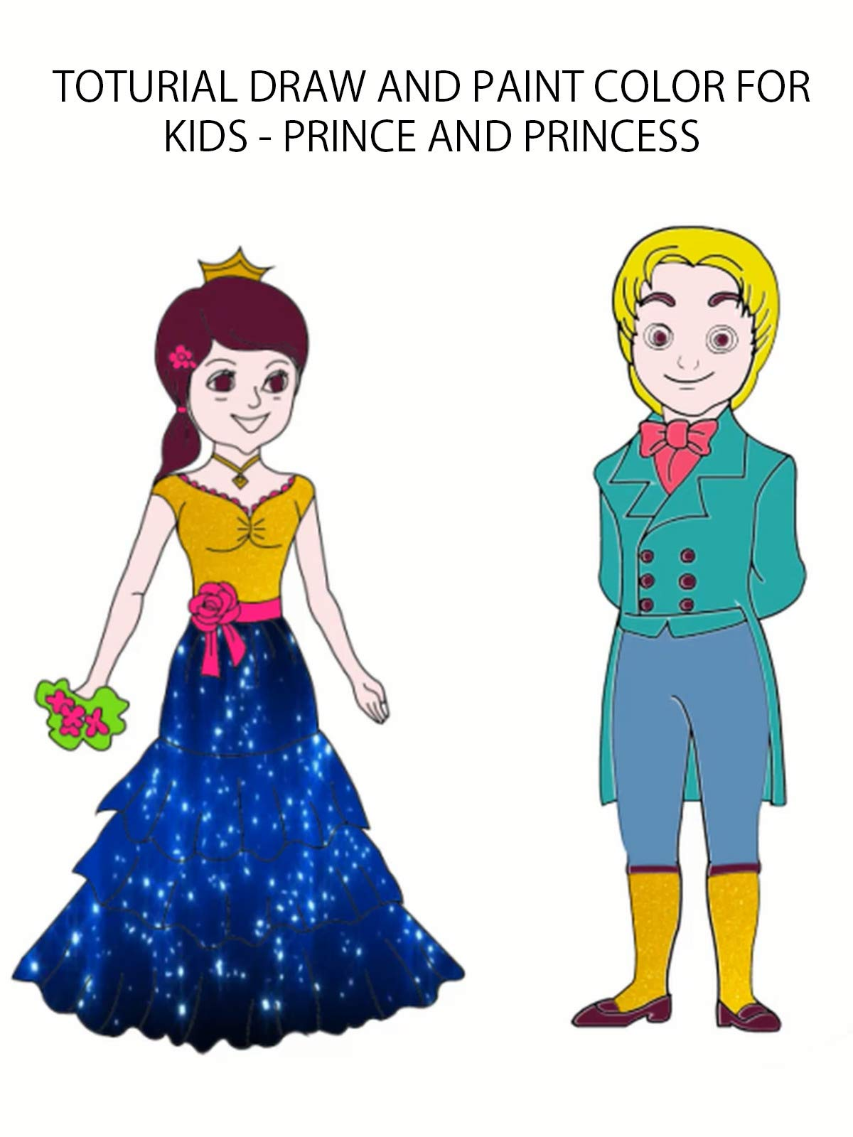 toturial draw and paint color for kids - prince and princess on Amazon Prime Video UK