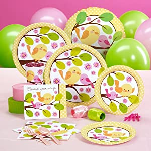 Sweet Tweet Bird Pink - Standard Pack for 16 Party Accessory