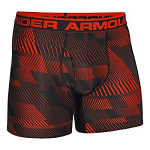 Under Armour Men's The Original 6-inch Printed Boxerjock Boxer Brief, Volcano/Black, Large