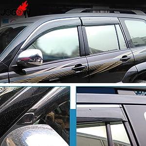 For Toyota For Land Cruiser Prado Fj120 2003-2008 2009 Window Sun Rain Visors Vent Shade Deflector Guard Weather Shield 4Pcs