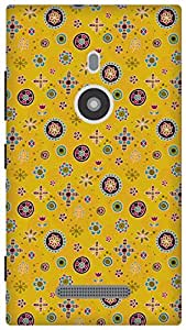 The Racoon Grip sunshine field gold hard plastic printed back case / cover for Nokia Lumia 925