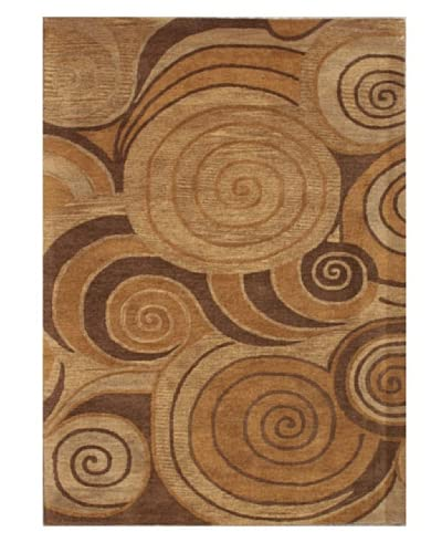 Mili Designs NYC Lollipop Patterned Rug, Tan/Multi, 5' x 8' As You See