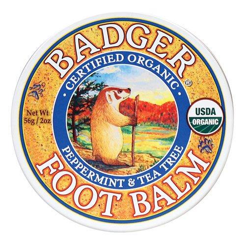Badger バジャー オーガニックフットクリーム ペパーミント & ティーツリー 56g