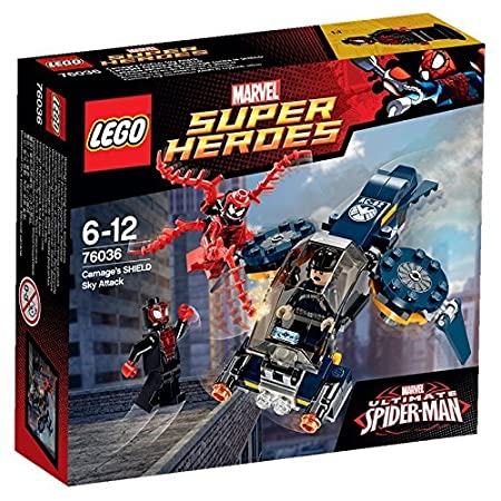 LEGO - 76036 - Marvel Super Heroes - L'Attaque Aérienne de Carnage contre Le Shield