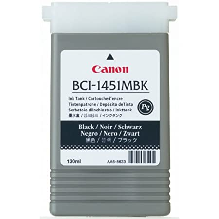 Canon Imageprograf W 6400 DYE (BCI-1451 MBK / 0175 B 001) - original - Ink cartridge black matte - 130ml