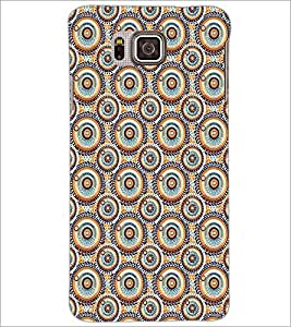 SAMSUNG GALAXY ALPHA CIRCLE PATTERN Designer Back Cover Case By PRINTSWAG