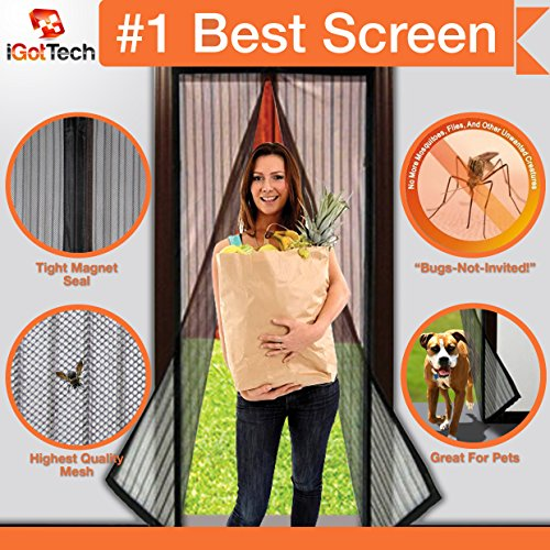 Magnetic Screen Door: Premium Quality, TOUGH CONSTRUCTION. Velcro SEWN Around ENTIRE Frame-NO GAPS! 36