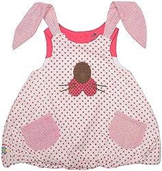 Absorba Baby Girls' Dress ( Pink_18-24 Months ,60004)