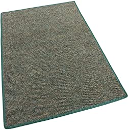 3\'X5\' - Mineral - Indoor/Outdoor Area Rug Carpet, Runners & Stair Treads with a Non-Skid Marine backing and Premium Nylon Fabric FINISHED EDGES . Olefin , 3/16\