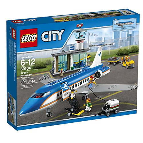 LEGO-City-Airport-60104-Airport-Passenger-Terminal-Building-Kit-694-Piece