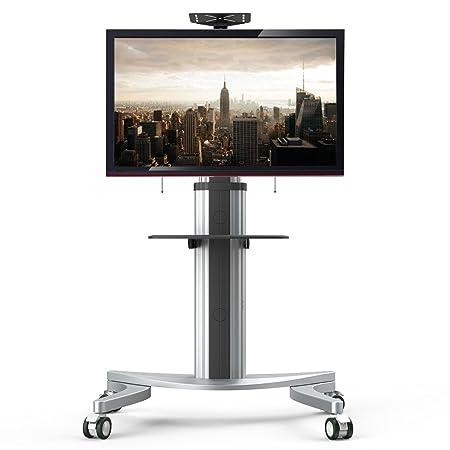 """Fleximounts P2 TV carrello mobile supporto a pavimento per moitor/TV di pannello piatto LCD LED Plasma 32""""-70"""", supporto con ruote"""