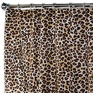 Extra Long Shower Curtain Fabric Unique Designer Modern 96 Inches Animal Contemporary