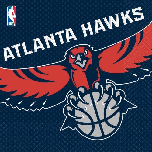 Costumes 203638 Atlanta Hawks Basketball- Lunch Napkins - 1
