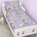 Disney Frozen Official Childrens Girls Crystal Junior Bedding Set (Junior Bed) (Pink)