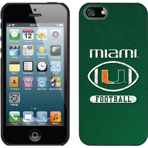 Special Sale Miami - Varsity design on a Black iPhone 5s / 5 Thinshield Snap-On Case by Coveroo