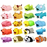 Bite Cable 20 Pack Cable Bites Animals Protector for Phone Charging Cable Buddies Dog Penguin Axolotl Pig Dragon Hippo Phone Accessories by FUNZON (Color: 20 Pack)
