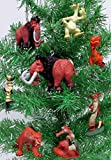 """ICE AGE 8 Piece Holiday Christmas Tree Ornament Set Featuring Manny, Sid, Diego and Other ICE AGE Characters - Shatterproof PVC Ornaments Range from 1.5"""" to 4"""""""