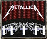 METALLICA Master of Puppets Heavy Metal Rockabilly Rock Punk Music Band Logo jacket T-shirt Patch Iron on Embroidered Sign Badge Size 3.5