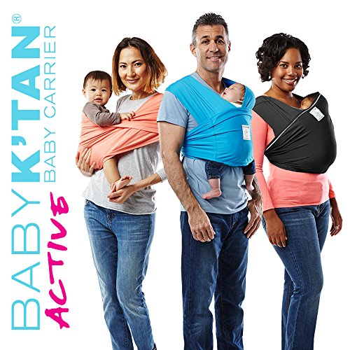 Baby K'tan Active Baby Carrier, Black, Small