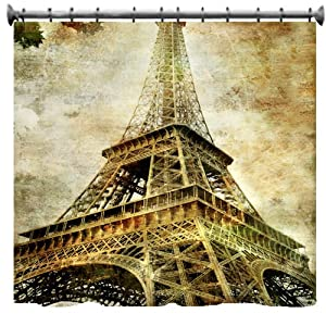 "Amazon.com - Eiffel Tower Shower Curtain - 69"" X 70"" -"