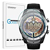 [3 Pack] Orzero for Ticwatch Pro Smartwatch Tempered Glass Screen Protector, 2.5D Arc Edges 9 Hardness HD Anti-Scratch Bubble-Free [Lifetime Replacement Warranty]