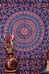 Twin Camle Mandala Tapestry , Indian Hippie Wall Hanging , Bohemian Wall Hanging, Bedspread Beach Coverlet Throw Decor Wall Art