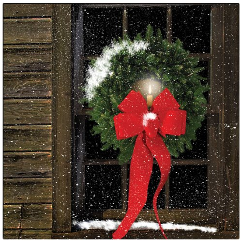 Ohio Wholesale Radiance Lighted Christmas Window Canvas Wall Art, From Our Christmas Collection